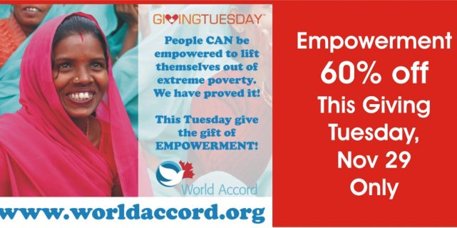 60% off Donations for Giving Tuesday Only